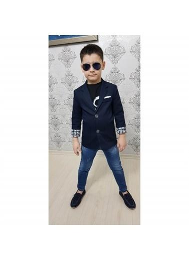Quzucuk Kids Erkek Çocuk Spor Ceketli Kot Takım Renkli